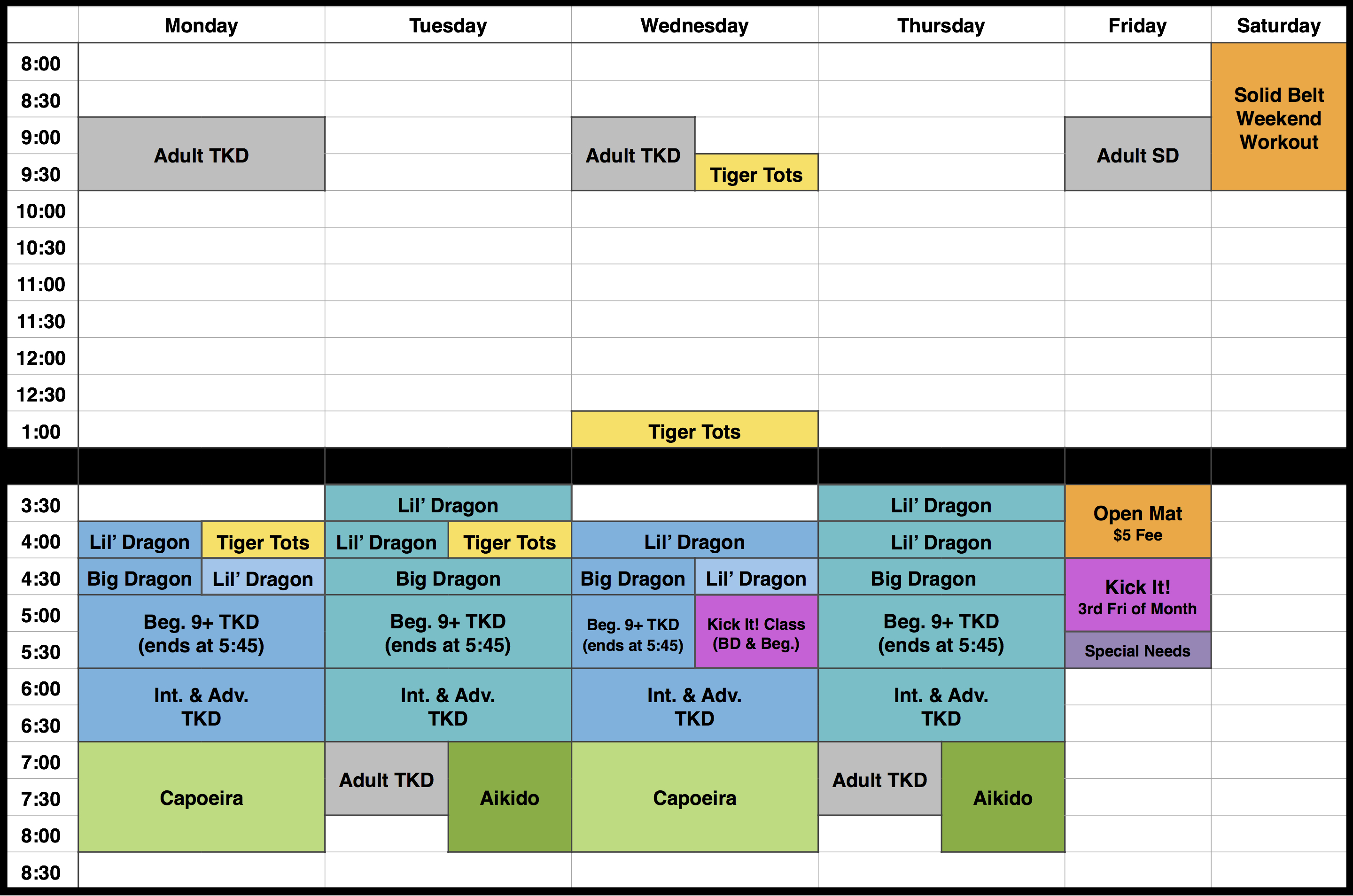 Spring '14 MA schedule Updated