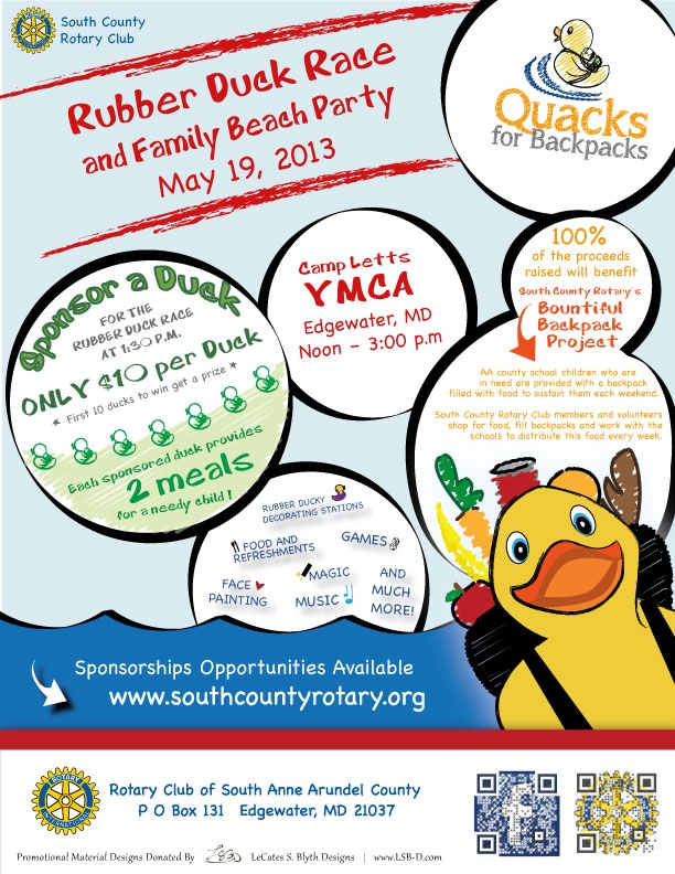 Quacks for Packs Flyer April 2013