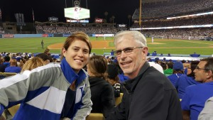 Jess & dad at ballgame