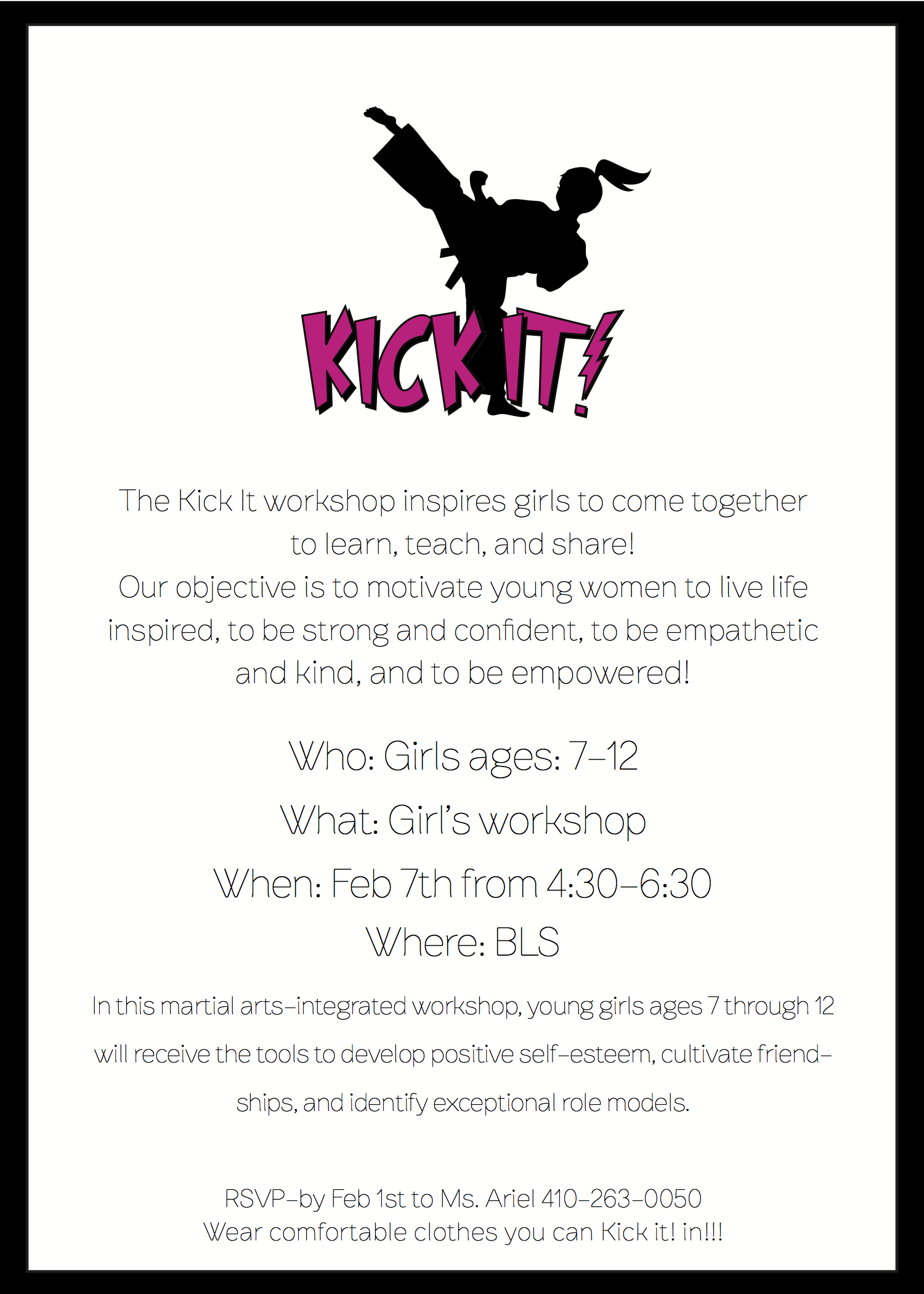 Kick It WKSHP invite