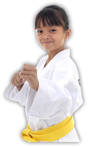 confident martial arts child